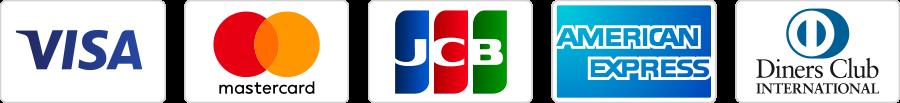 JCB/VISA/MASTERCARD/AMERICANEXPRESS/DINERS